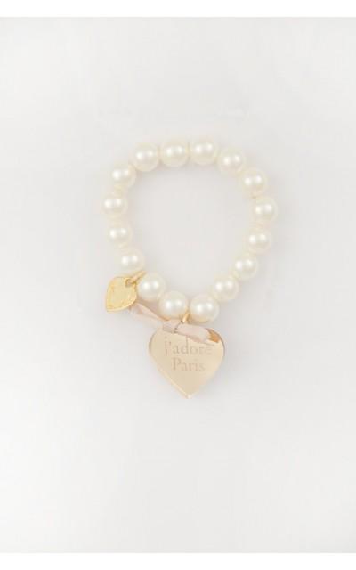 Bracciale perle e cuore