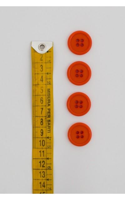 Bottone classico 4 fori 20mm Arancione