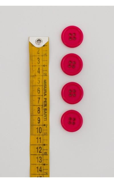 Bottone classico 4  fori  20mm fucsia