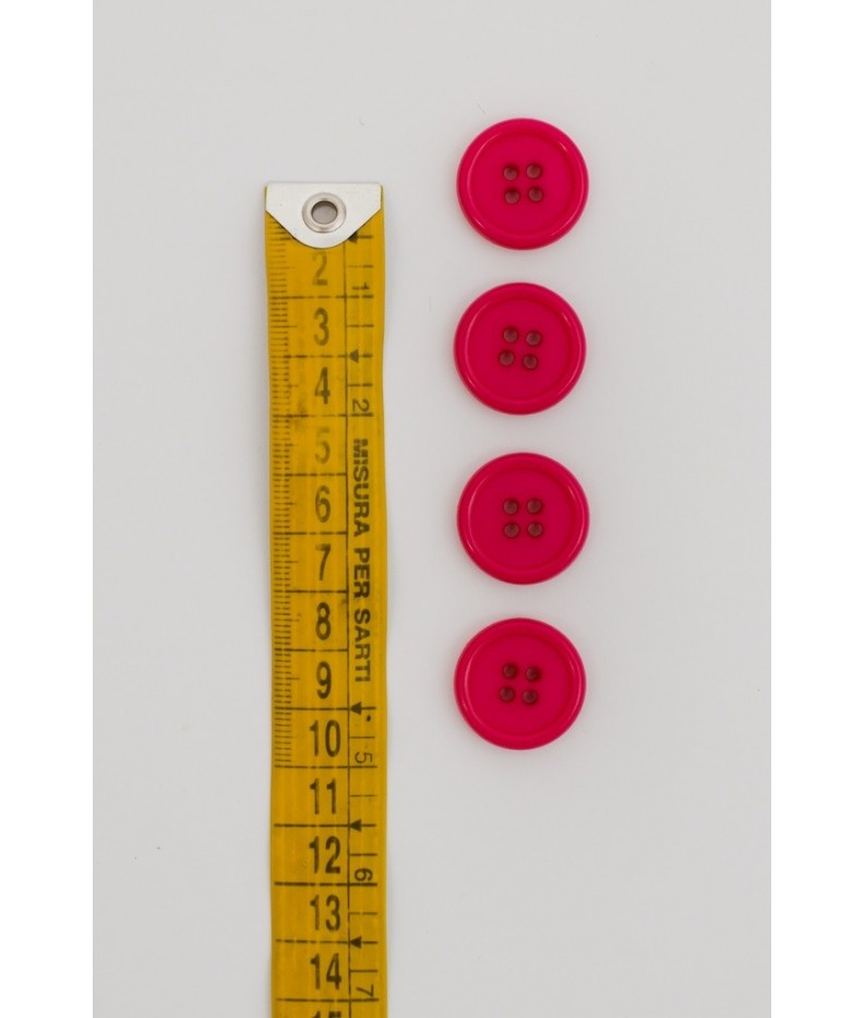 Button basic 4 holes 20mm Fuchsia
