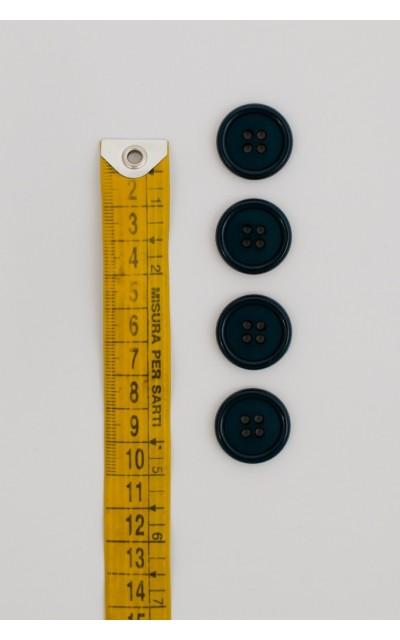 Bottone classico 4  fori  20mm ottanio
