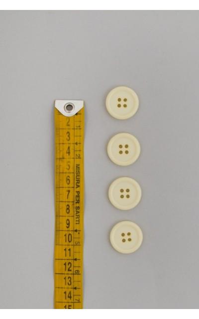 Bottone classico 4  fori  20mm Panna