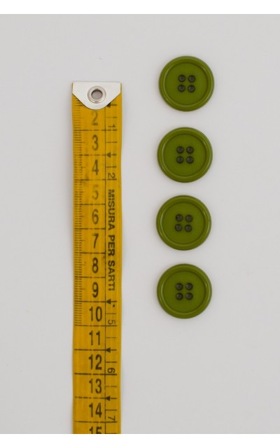 Button basic 4 holes 20mm Green