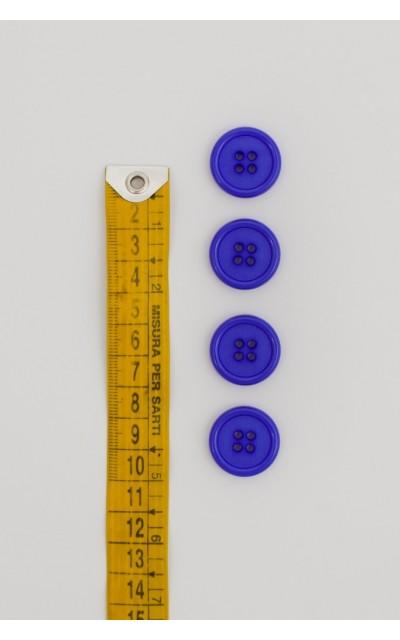 Bottone classico 4  fori  20mm viola