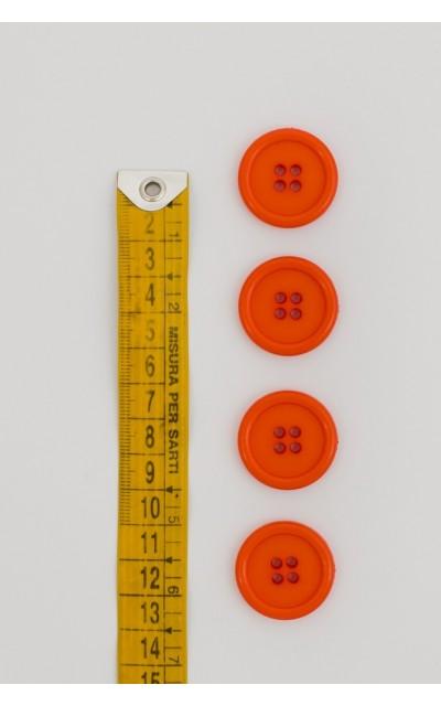 Bottone classico 4 fori 25mm Arancione