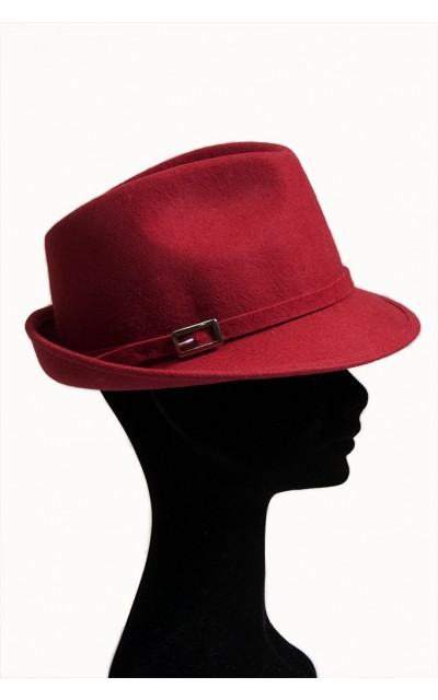 Hat model trilby with tie