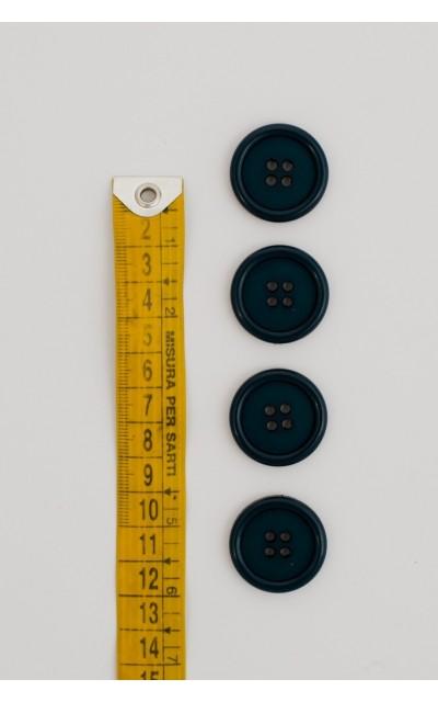 Bottone classico 4 fori 25mm Ottanio