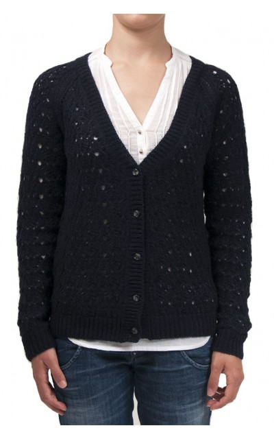 Cardigan crochet  30% merino wool