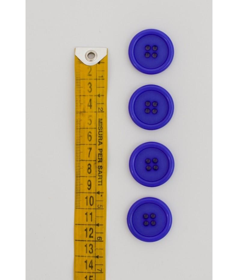 Bottone classico 4  fori  25mm Viola