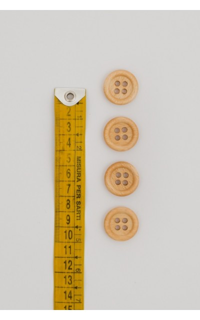 Classic button wood 4 holes 20mm