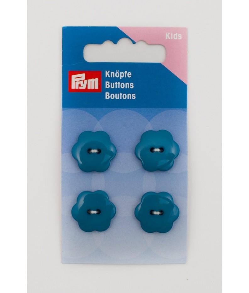 Bottone Flower Prym Blu