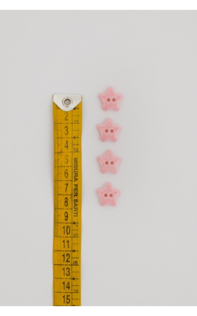 Bottone stellina rosa
