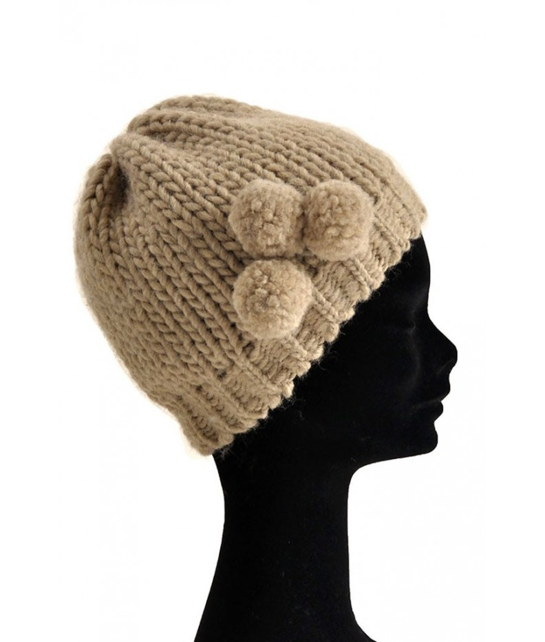 Hat with pompons