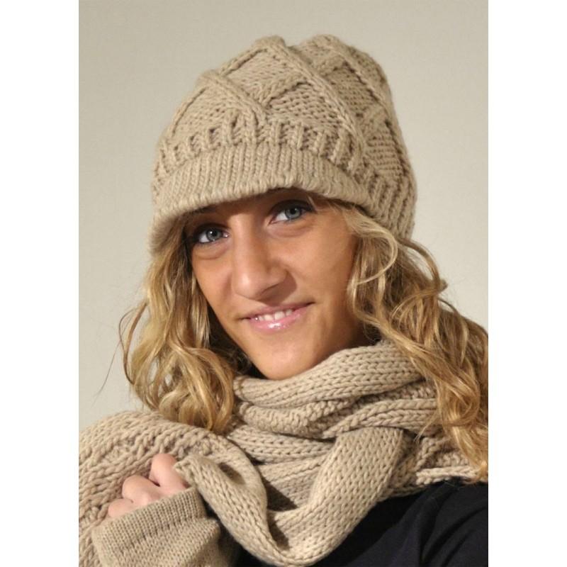 Completo sciarpa e cappello in maglia made in italy - Ophelia Italy ... e4ffbd9b87b1