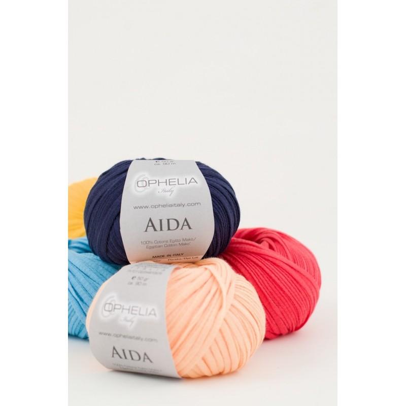 Ribbon cotton yarn 5mm Aida - Ophelia Itay -