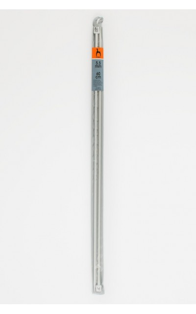 Single-pointed knitting pins US 9 / 60cm