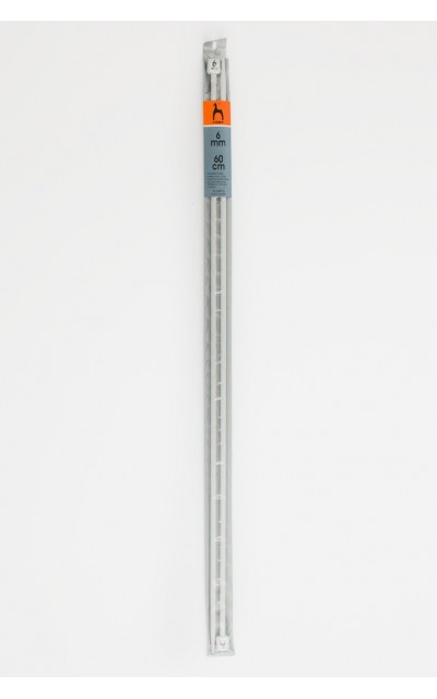Single-pointed knitting pins US 10 / 60cm