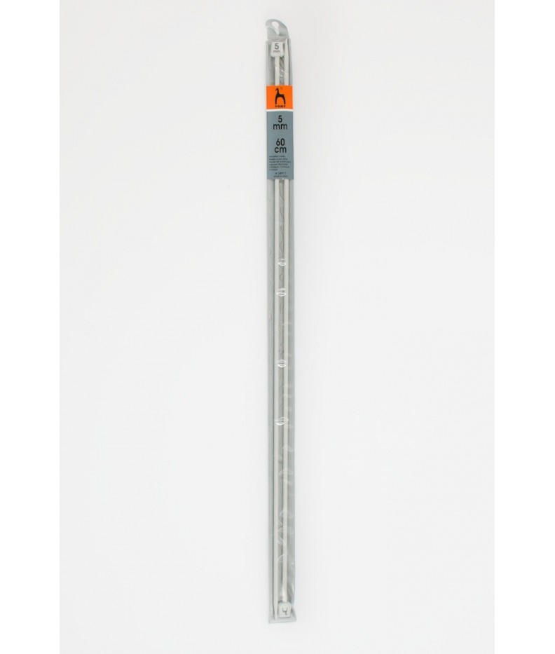 Single-pointed knitting pins US 8 / 60cm