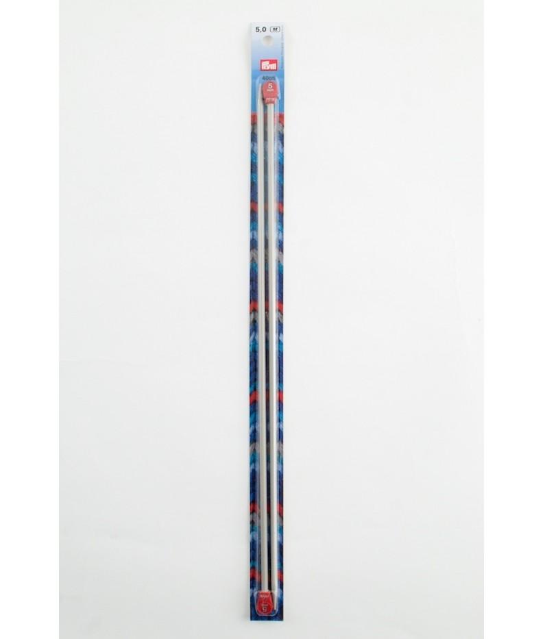 Stricknadeln Jackenstricknadeln 25 cm  Alu Grau 4,5 191 418