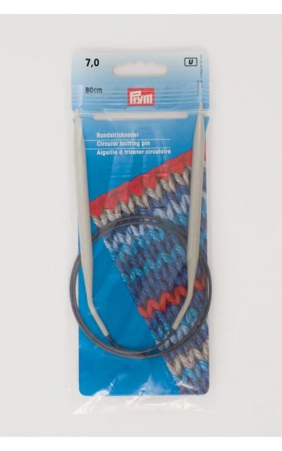 Ferro circolare allunimio Prym 7 mm 80 cm