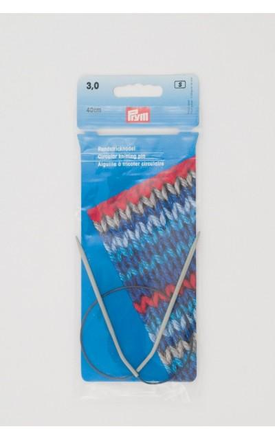 Ferro circolare allunimio Prym 3 mm 40 cm