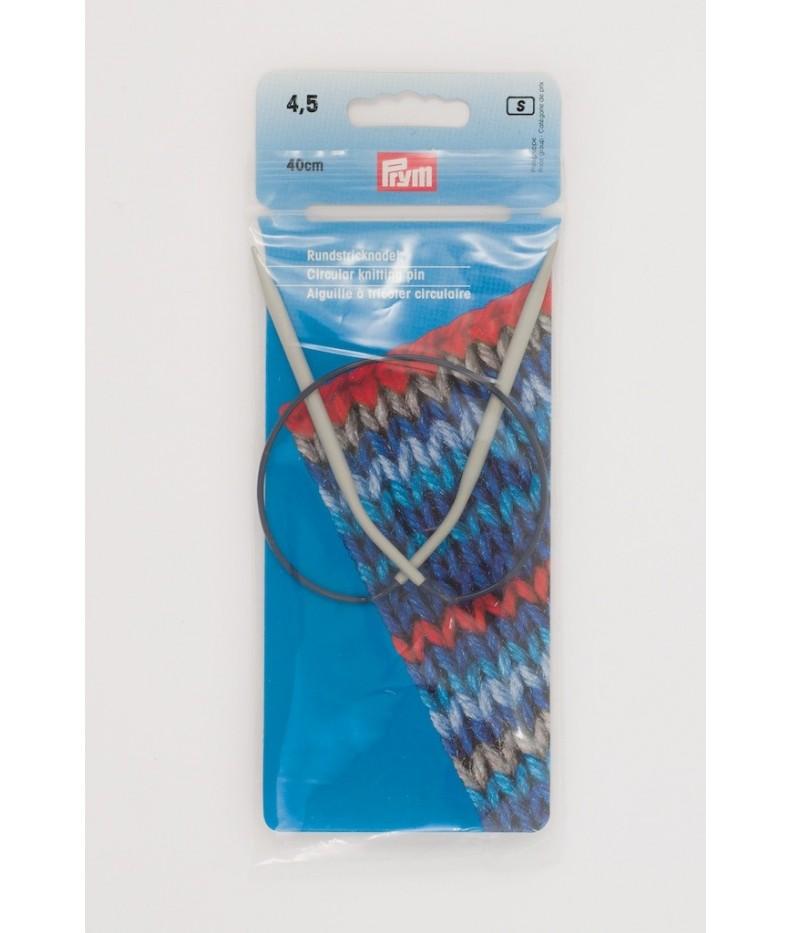 Circular knitting pin aluminim US 7 / 40 cm