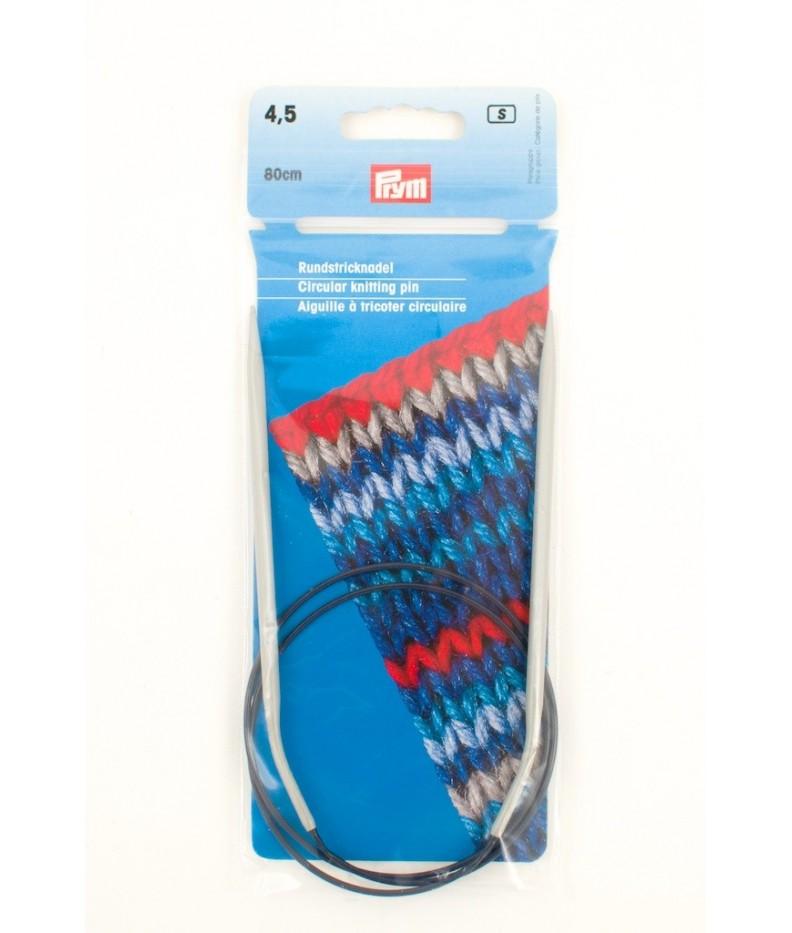 Circular knitting pin aluminim US 7 / 80 cm