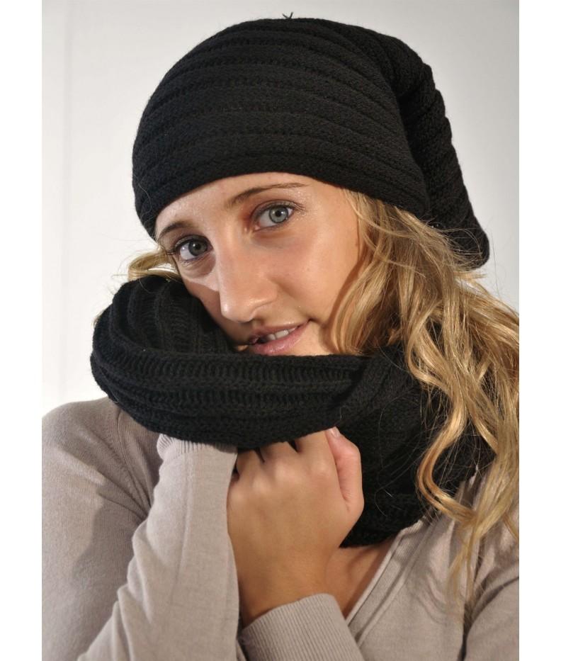 Mock neck head band wool