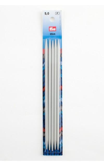 Strumpfstricknadeln, Aluminium 5 mm 20 cm