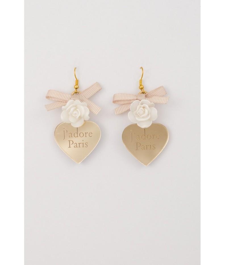 Earrings small glass