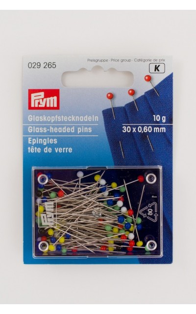 Glass-headed pins 10g Prym