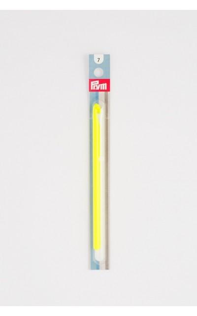 Wollhäkelnadel 7 mm Prym mit  farbig Kunststoffgriff