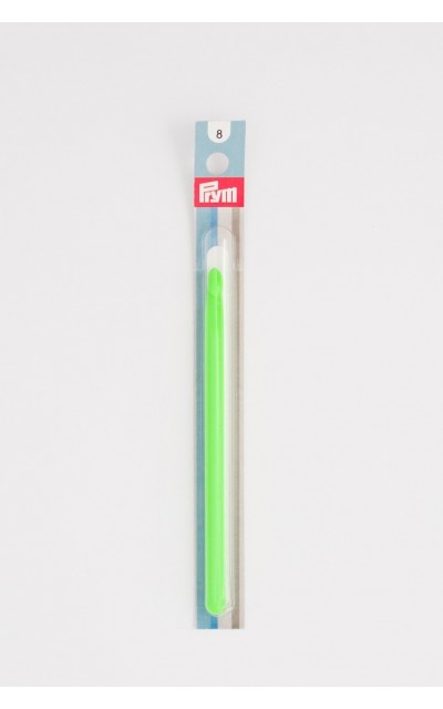 Crochet hook L/11 in colored plastic