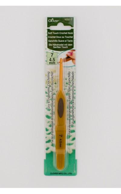 Wollhäkelnadel clover 4.5 mm Soft Tuch