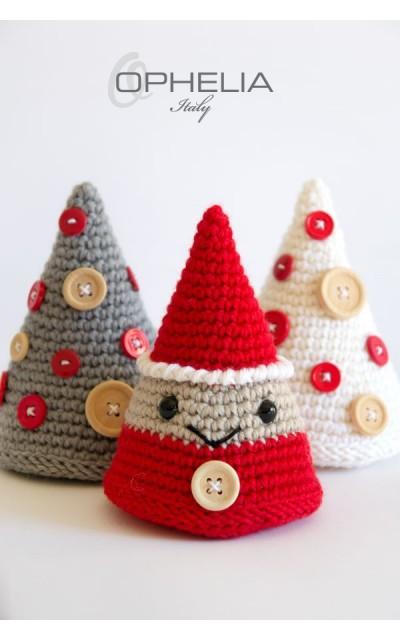 Weihnachtsausschmückungen Amigurumi: Baum und Kobol