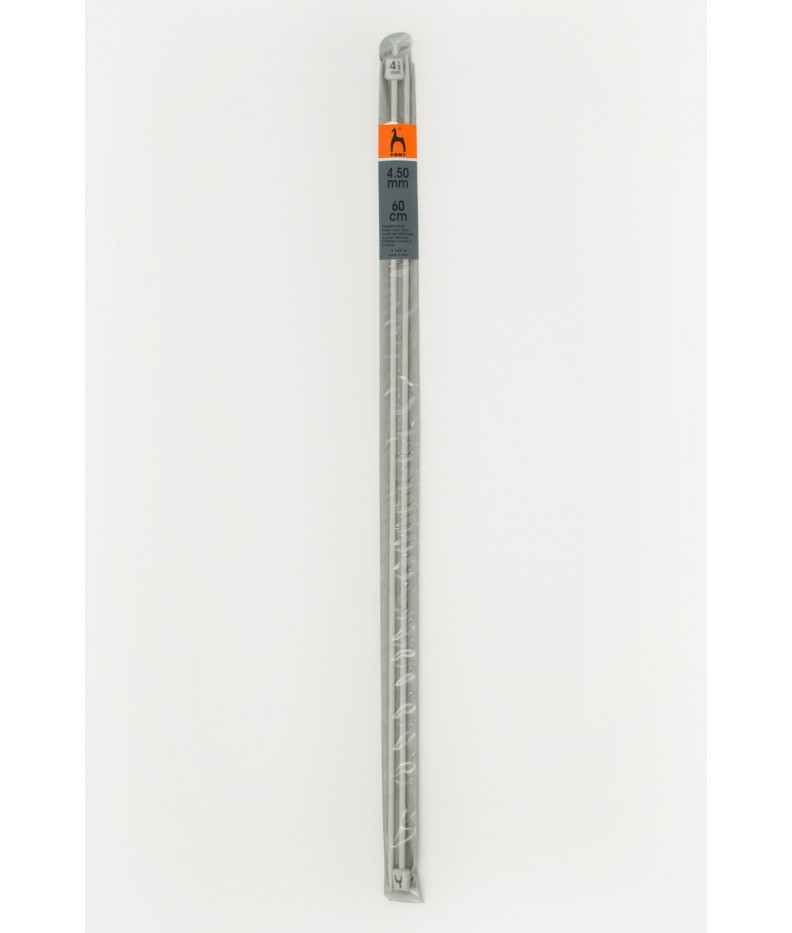 Single-pointed knitting pins US 7 /60cm