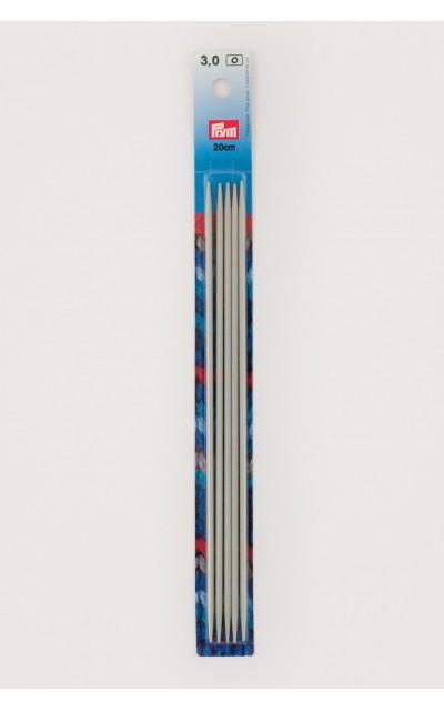 Strumpfstricknadeln, Aluminium 2,5 mm 20 cm