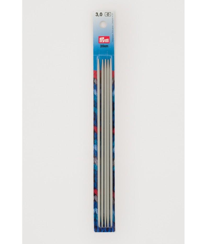 Ferri doppia punta alluminio 2,5 mm 20 cm