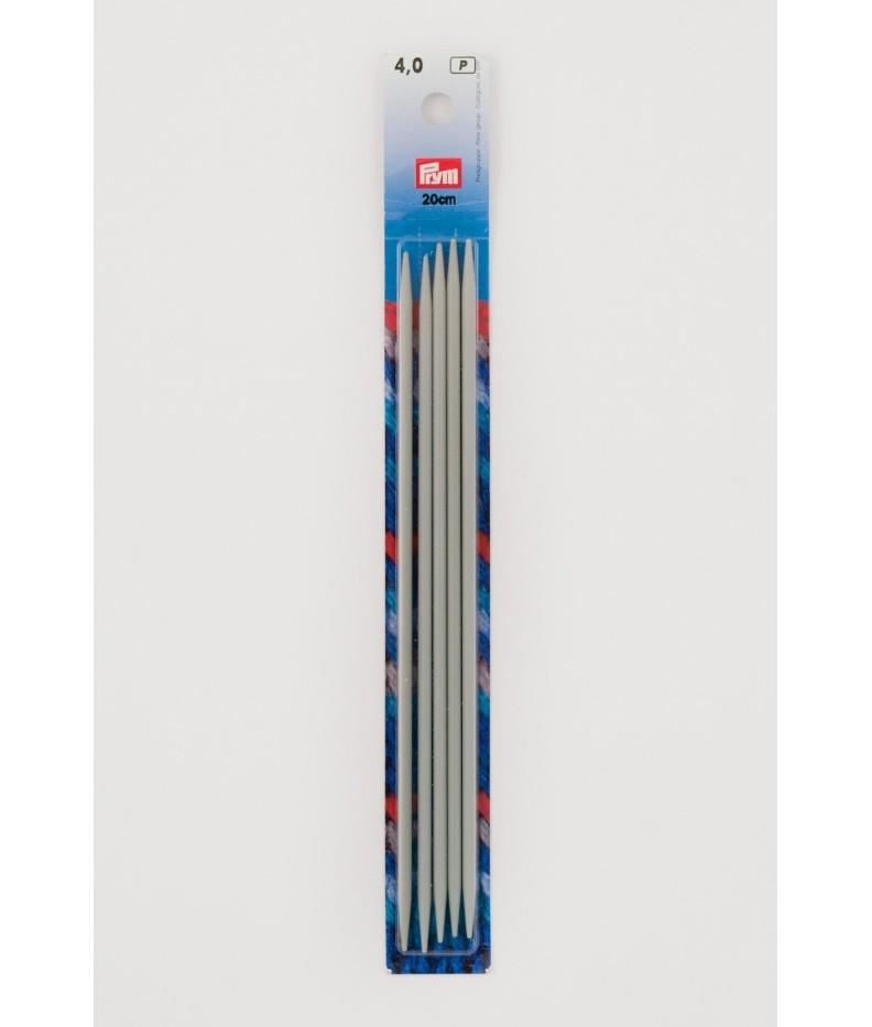 Strumpfstricknadeln, Aluminium 4 mm 20 cm