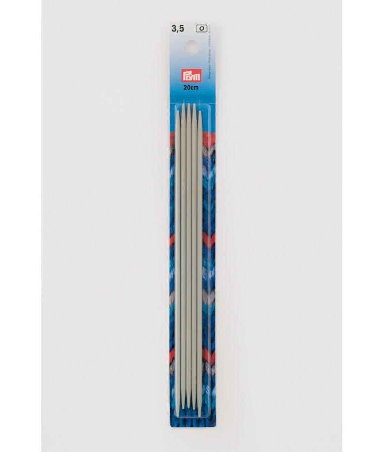 Strumpfstricknadeln, Aluminium 3,5 mm 20 cm