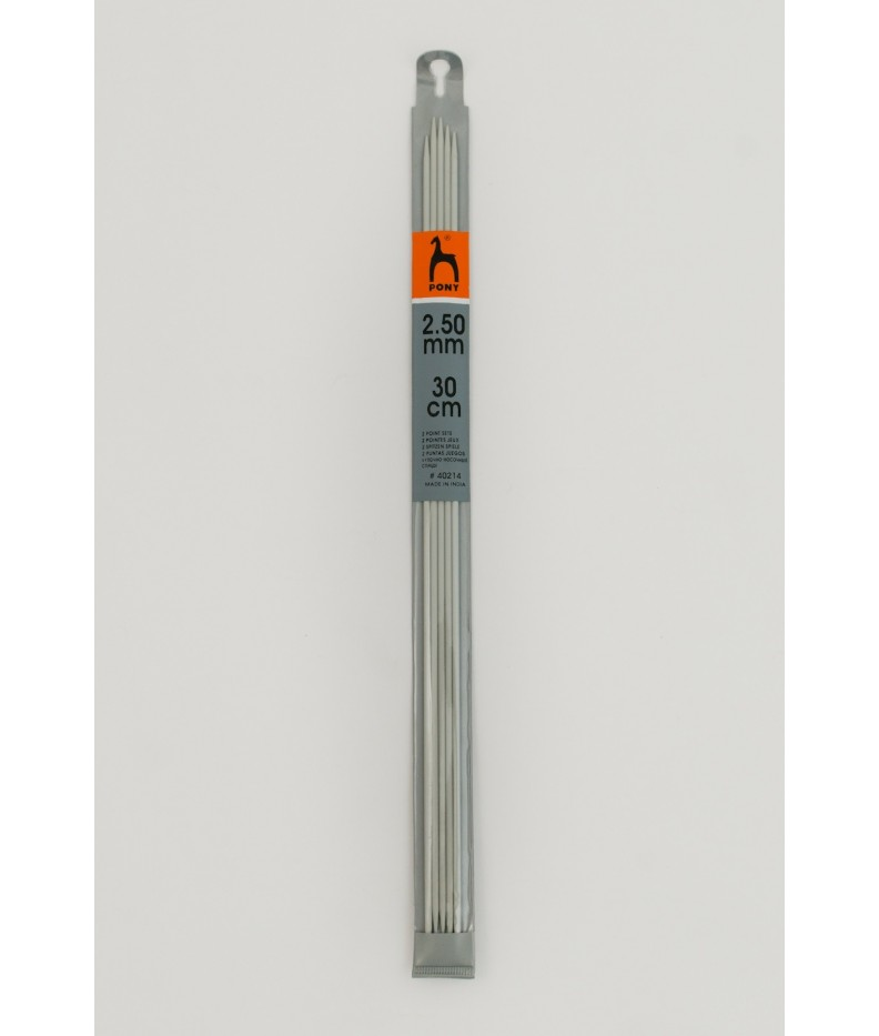 Double - pointed knitting pins US 2,5 / 30cm