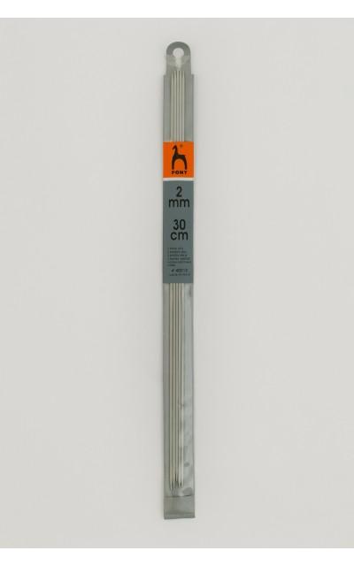 Strumpfstricknadeln 2,5 mm 30cm