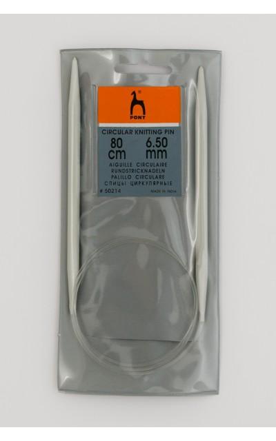 Circular knitting pin aluminim US 10,5 / 80 cm