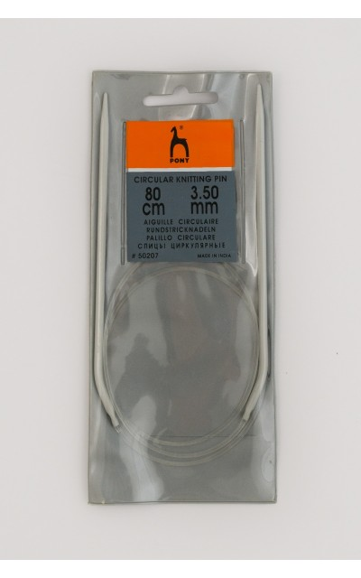 Ferro circolare allunimio Pony 3,5mm 80 cm