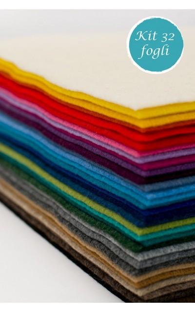 32 Blatt aus Filz polyester effekt velour 2mm