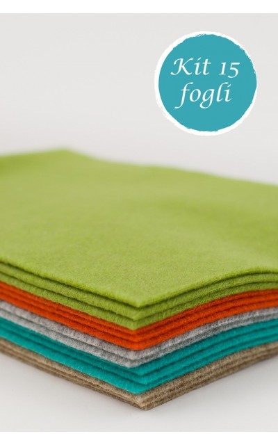 15 Blatt aus Filz polyester effekt velour 2mm