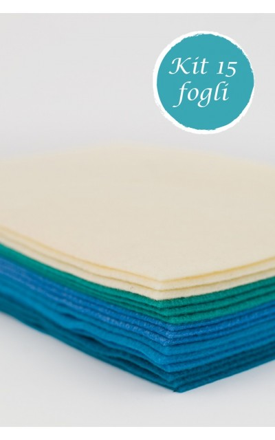 15 sheet of felt polyester with velour effect 2mm