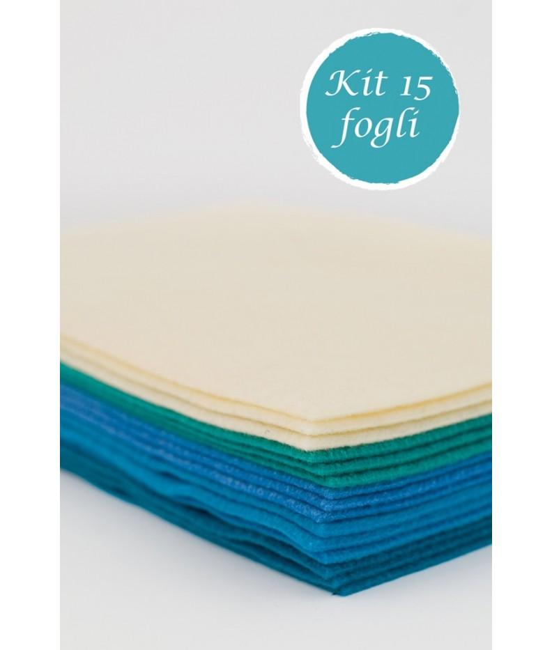 Kit 5 sheet of felt 2mm 20x30 - 50x50 - 50x75 polyester
