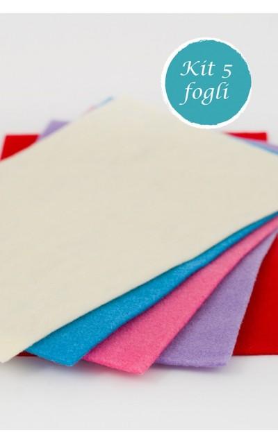 5 Blatt aus Filz polyester effekt velour 2mm