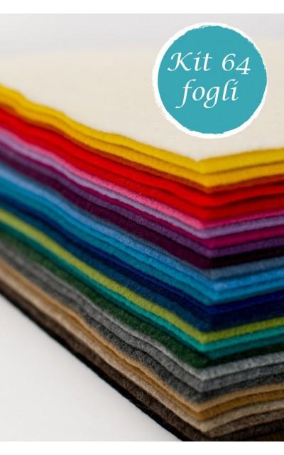 64 Blatt aus Filz polyester effekt velour 2mm